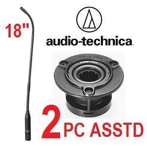 "NEW 2PC ASSTD AUDIO TECHNICA ITEMS - 111300999 - 18"" CARDIOID CONDENSER GOOSNECK MICROPHONE +MICROPHONE SHOCK MOUNT"