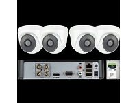 4 Camera CCTV System HD 1080p 2MP Cameras with Recorder DVR and 1TB Hard Drive, Remote Access,Fitted