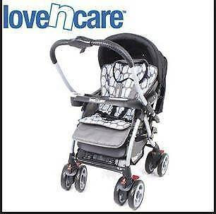 Love n Care Mirage Reversible Pram with storage, like new
