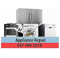 Professional & Low Cost Home Appliance Repair 647 496 2018