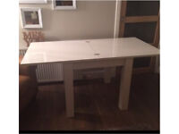 Next Valencia White High Gloss 4-5 Dining Table RRP £325 80x80cm sq