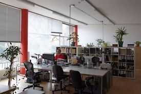 2 desks available in our shared studio at Spike Island