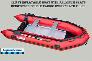 NEW! 12.5 FT INFLATABLE Boat Sport Edition - Aquamarine on SALE!