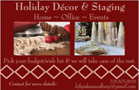 Holiday Decor & Staging : Home, Office, & Events