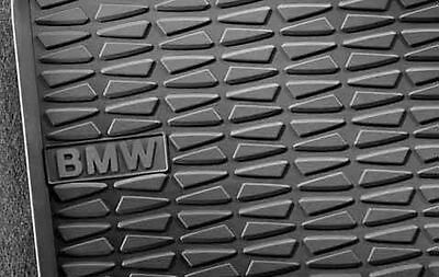 BMW Genuine All Weather Rubber Rear Floor Mats Set Anthracite E84 X1 51472336795