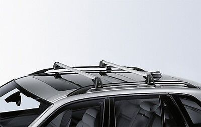 BMW Base Support System Roof Rack Cross Bars for E70 X5 Genuine OEM New