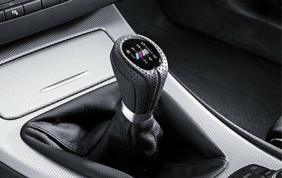 BMW Genuine M Gear Shift Knob+Gaiter Leather Black 6-Speed 3 Series 25118037309