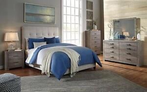 Brand New Ashley Bedroom Set with Upholstered Bed - Payment Plan