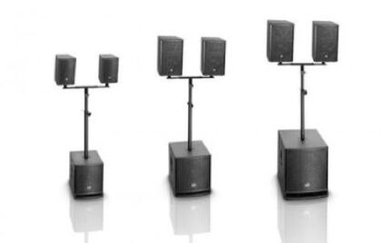 HIRE Amplified Speakers, Mixers, mics, lights smoke , party packs