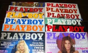 playboy and penthouse magazines from 1972 to 2003