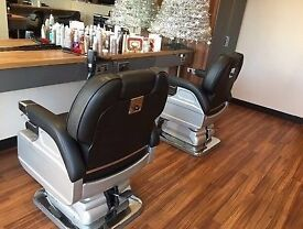 x3 Utopia Barber Chairs For Sale WITH sink basin