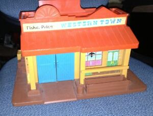 Vintage Fisher Price Western Town for sale