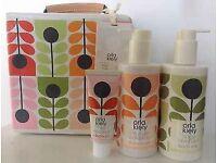 Orla Kiely Make-up bag with toiletries