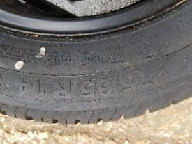 Spare wheel with continental tyre