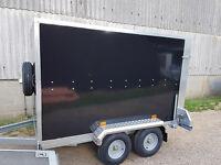 Box Trailer Tickners GT 8' x 5' x 5' in Black with Ramp