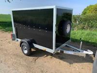 NEW Box Trailer 7' x 4 x 5 Tickners ECo Trailer in Black 750kg Upgrade