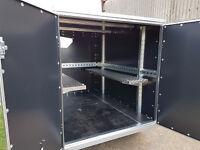 Karting Box Trailer Tickners GT 7' x 5' x 5' in Black with Barn Doors