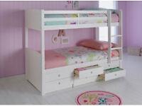 Leigh Detachable Single Bunk Bed Frame - White