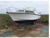 Cleopatra 7metre pleasure/fishing boat. C/w trailer