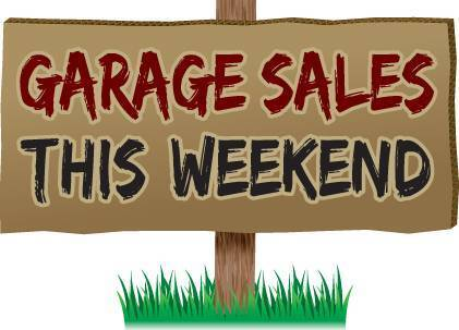 Garage sale saturday and sunday 27th 28th
