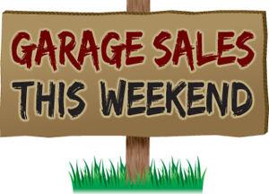 Garage Sale Saturday ONLY