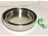 Used 2 heavy-weight stainless steel baking pans