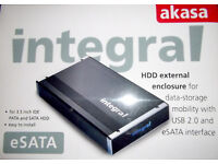 External Hard Drive and Enclosure for IDE and SATA drives