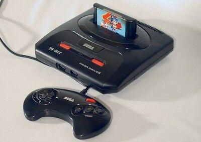 Dynamisch: Sega MD II Konsole mit Sonic & Knuckles Spiel