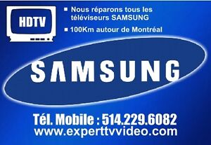 SAMSUNG TV repair in-home service West Island Greater Montréal image 1