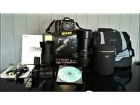 NIKON D7000 WITH 18-105MM VR KIT AND TAMRON AF 70-300MM 1:4-5.6 TELE-MACRO 180-300MM