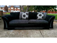 Grey 3 up to 4 seater sofa