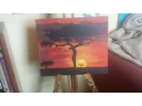 African-sky-Original-painting-on-board