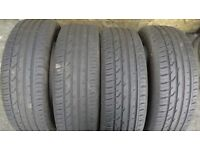 CONTINENTAL 215/55/18 CONTI PREMIUM CONTACT 2E 4 X USED TYRES
