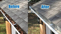 Eavestrough Cleaning / Dirt Removal
