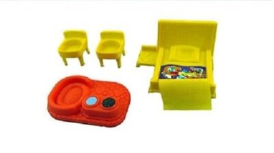 NEW~ FISHER PRICE Little People Replacement Furniture Lot ~ Bed, Stools,Dog Bowl
