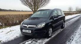Vauxhall Zafira 63. ***Full years MOT and low milage***