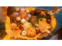 Fresh Edible fruit arrangements and chocolate basket pot displays