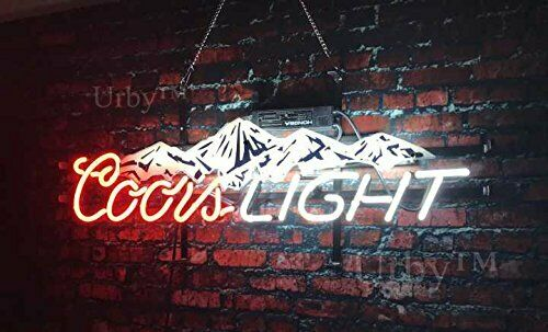 "New Coors Mountain Beer Neon Light Sign 19"" HD Vivid Printin"