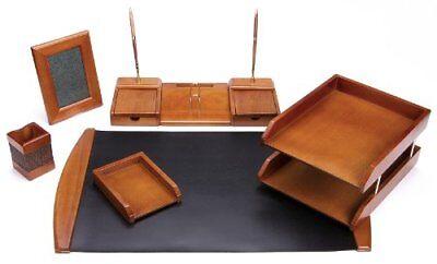 Majestic Goods Six Piece Brown Oak Wood Desk Set W450 Free2dayship Taxfree