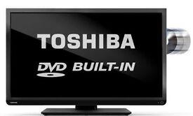 "Toshiba 32"" LED Tv with built in DVD player Boxed"