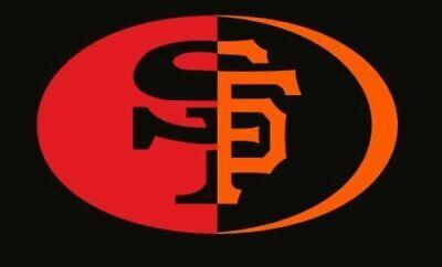 Car Decal San Francisco SF 49ers Giants 2 in 1, NFL MLB ()