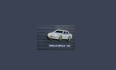CADILLAC SEVILLE 1975 RARE LAPEL Jacket PIN Badge Vintage Classic Car 70's RARE