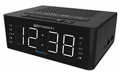 Emerson SmartSet Alarm Clock Radio with Bluetooth Speaker Charging Station wi...