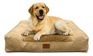NEW American Kennel Club Memory Foam Sofa Pet Bed, X-Large, Tan