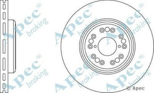 1x OE Quality Replacement Front Axle Apec Vented Brake Disc 5 Stud 315mm - Pair