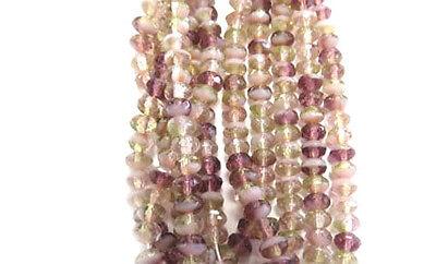 4mm Fine Trade Czech Crystal Amethyst Multi fire Polished Glass beads