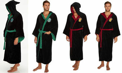 Harry Potter Slytherin/Gryffindor Adult Bathrobe Dressing Gown - New Official - Slytherin Bathrobe