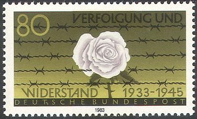 GERMANY 1983 ROSE/BARBED WIRE/PRISONERS/PERSECUTION/WWII/FLOWERS 1V N31281