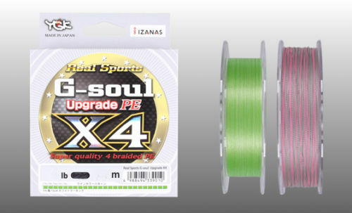 G-SOUL X4 Upgrade PE 150m 4lb #0.2 GREEN YGK