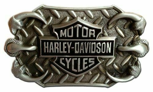 HARLEY DAVIDSON BAR & SHIELD EAGLE CLAWS BELT BUCKLE BLACK